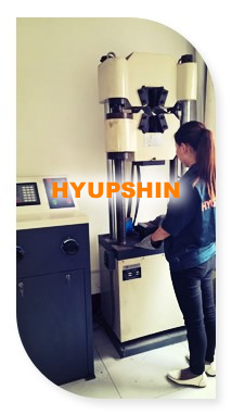 tensile testing for flanges material, jinan hyupshin flanges co., ltd