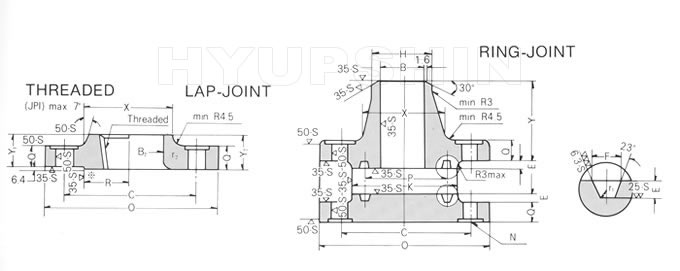 KOREAN ANSI B16.5 CLASS 900 FLANGE DRAWINGS, JINAN HYUPSHIN FLANGES CO., LTD